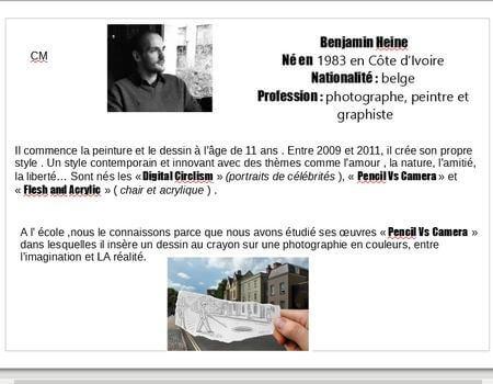 A LA MANIERE DE BENJAMIN HEINE2